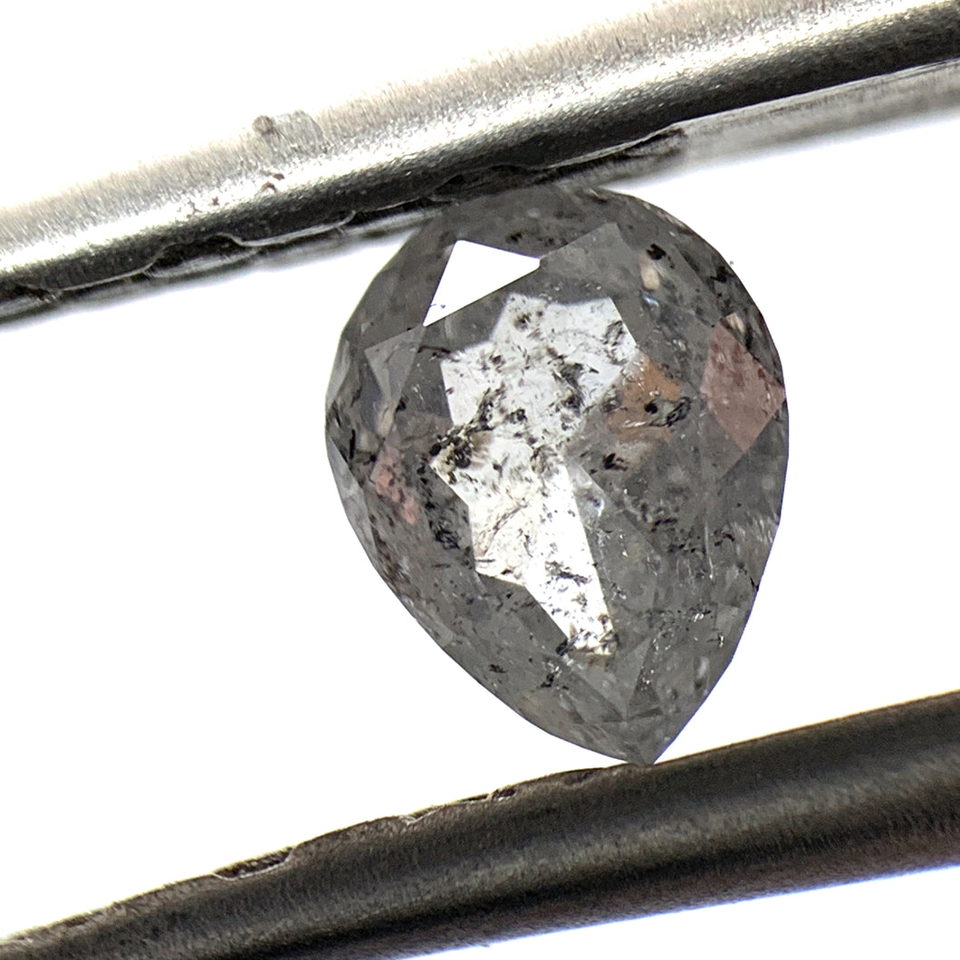 .59ct Pear Cut Salt and Pepper Diamond