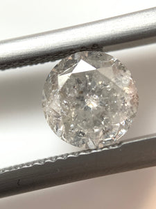 1.36ct Round Brilliant Cut Salt and Pepper Diamond