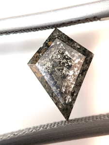 1.47ct Kite Cut Salt and Pepper Diamond (out with retailer)