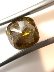 6.71ct Cushion Cut Fancy Yellow Salt and Pepper Diamond