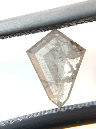 .71ct Shield/Kite Cut Icy Salt and Pepper Diamond
