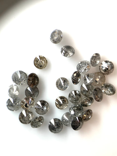 30x2mm=1.06ct RBC Melee Salt and Pepper Diamonds