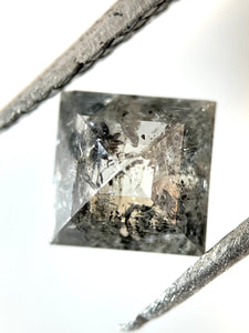 .67ct Square Rose Cut Salt and Pepper Diamond