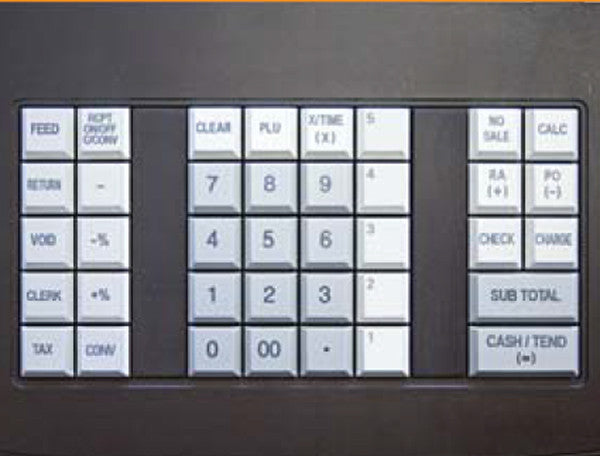 Sam4s er 180t cash register anchor data systems ni ltd for Cash register keyboard template