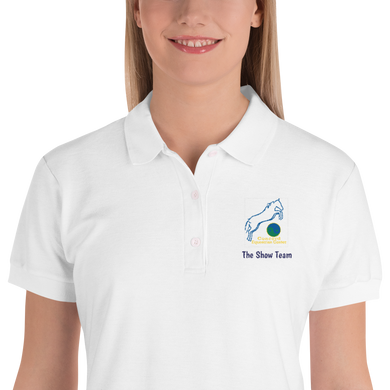 Embroidered CEC Show Team Women's Collared Polo Shirt