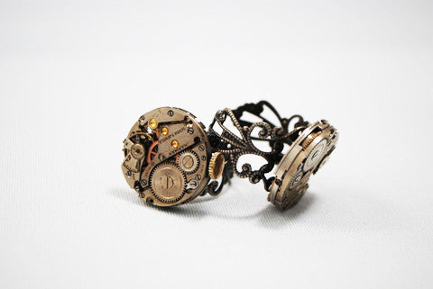 Steampunk Style Rings & Necklace