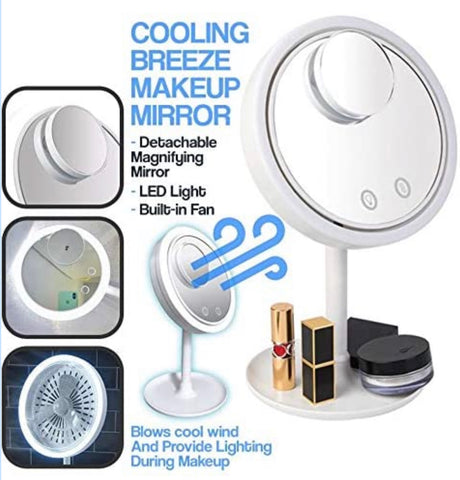 Beauty Breeze Dimming Mirror With Fan