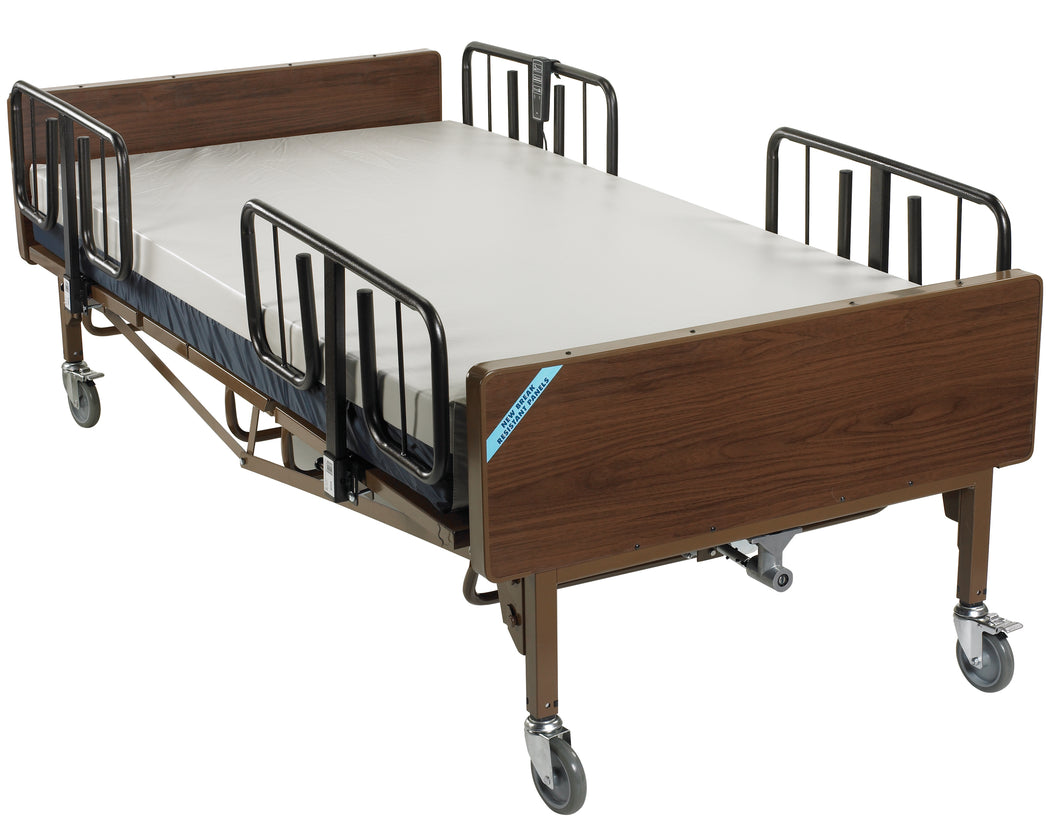 Full Electric Heavy Duty Bariatric Hospital Bed, with Mattress and 1 Set of T Rails