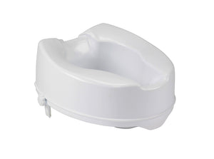 "Raised Toilet Seat with Lock, Standard Seat, 4"" & 6"""