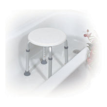 Load image into Gallery viewer, Adjustable Height Bath Stool, White