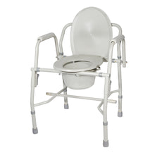 Load image into Gallery viewer, Steel Drop Arm Bedside Commode with Padded Arms
