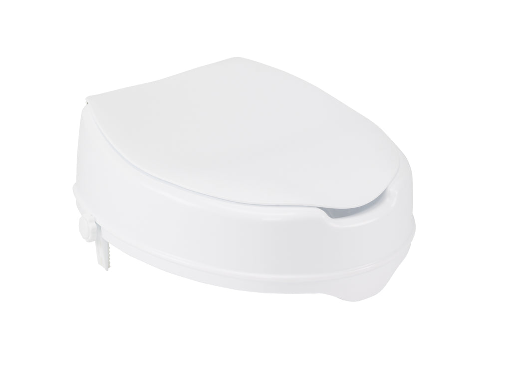 Raised Toilet Seat with Lock and Lid, Standard Seat, 4