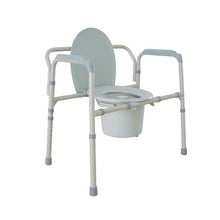 Load image into Gallery viewer, Heavy Duty Bariatric Folding Bedside Commode Chair