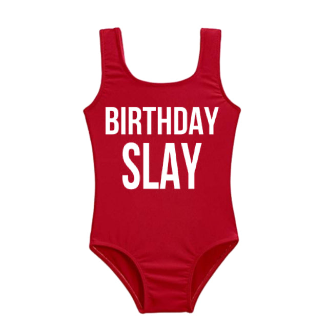 **SOLD OUT**  Custom Swim Birthday SLAY (Infants - Girls)