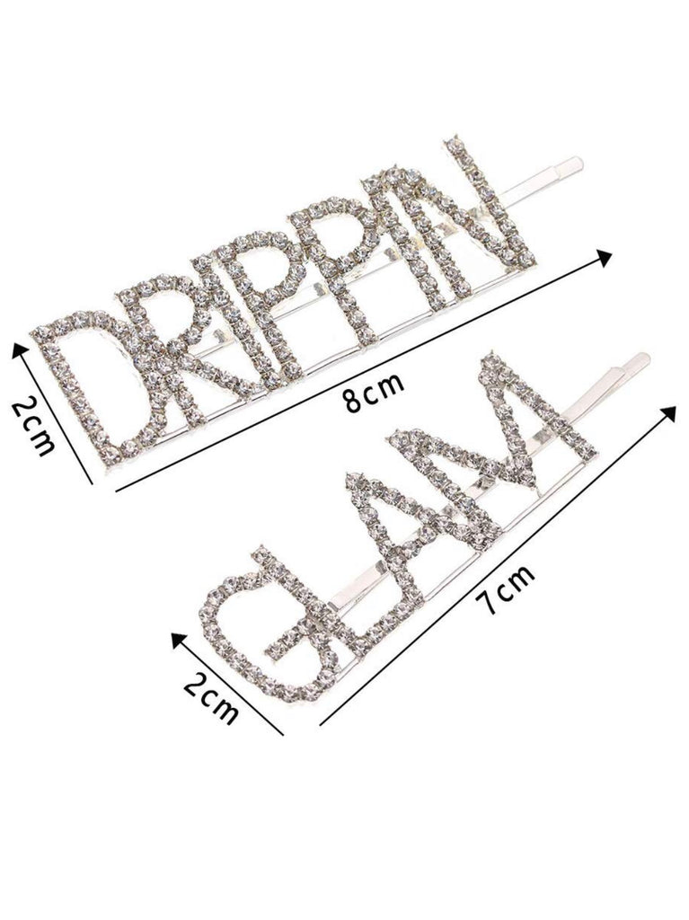 **NEW ARRIVAL** DRIPPIN GLAM Rhinestone STATEMENT Bobby Pins