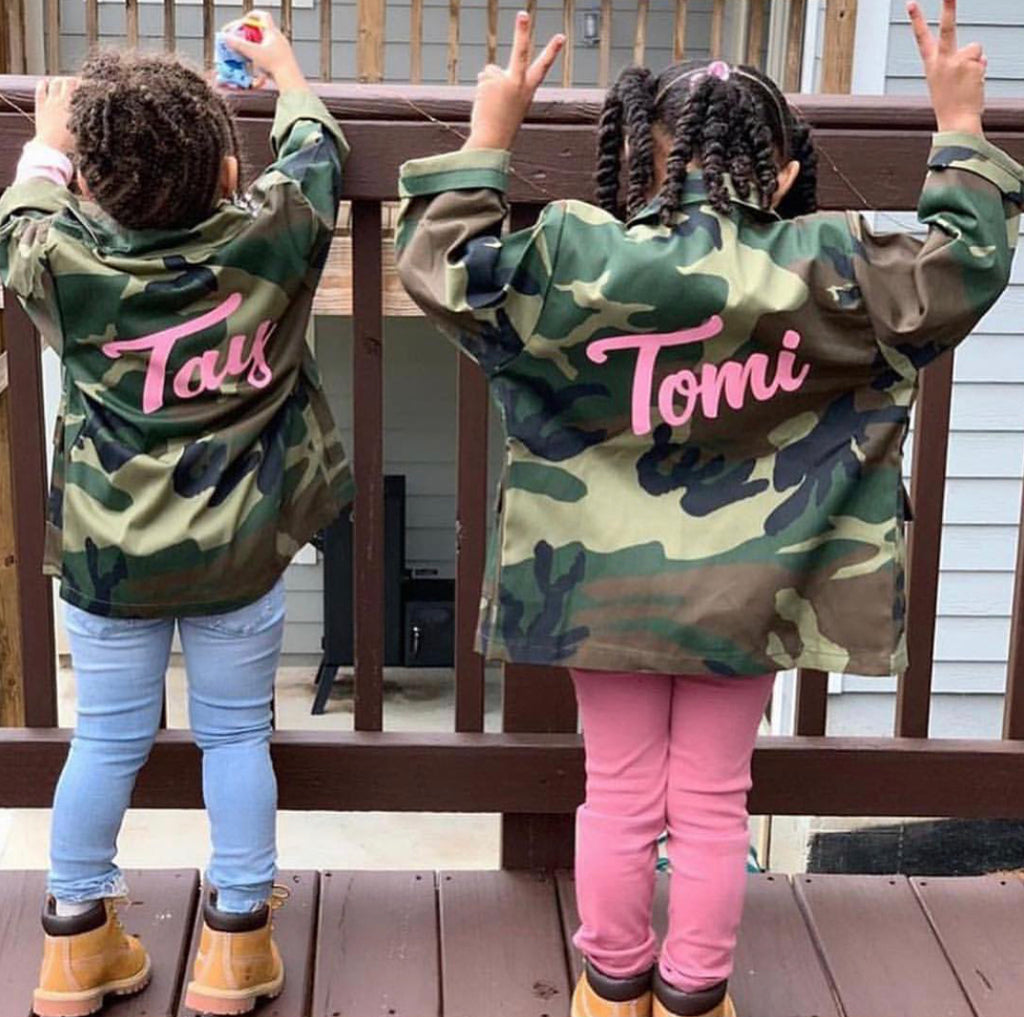 **ISSA MUST HAVE** Custom Camo Army Of One Button Down (for mini - Adults)