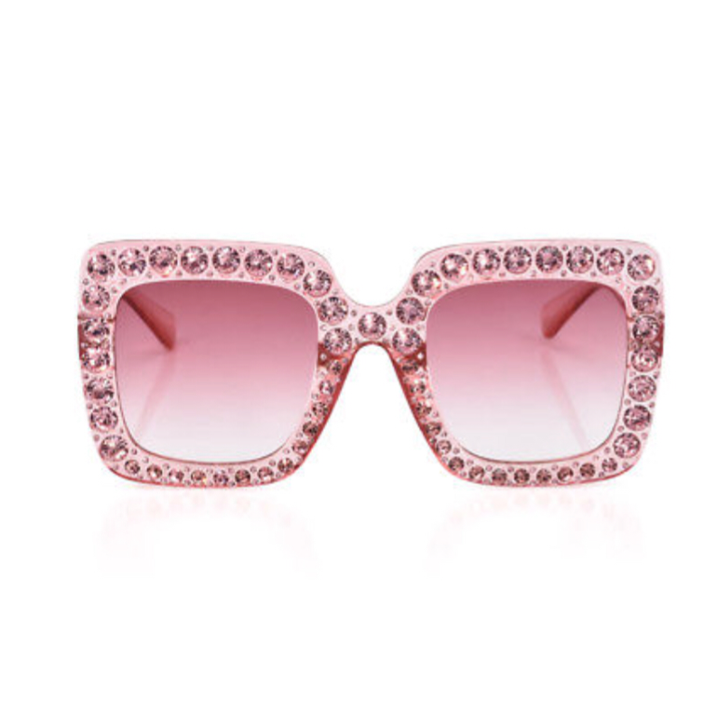 **NEW ARRIVAL** SLAY Rhinestone Transparent Frames (For Girls - Adults)