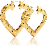 **ISSA MUST HAVE** Bamboo Heart Hoops