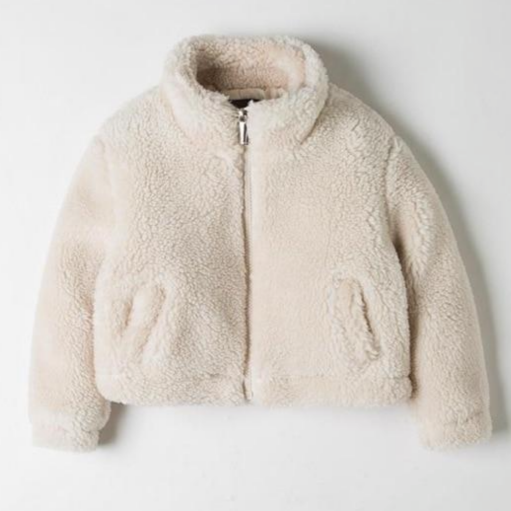 **ISSA MUST HAVE** Cropped Teddy ZIP Up (For Toddlers - Girls)