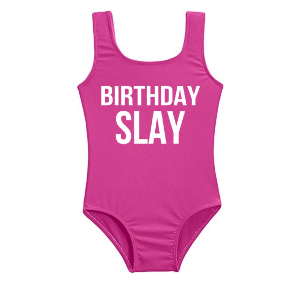 **ISSA SUMMER MUST HAVE**  Custom Swim Birthday SLAY (Infants - Girls)