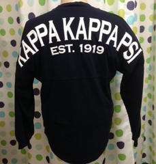**Spirit Football Jersey Kappa Kappa Psi - Deep Indigo (Navy) with White writing and Crest on front