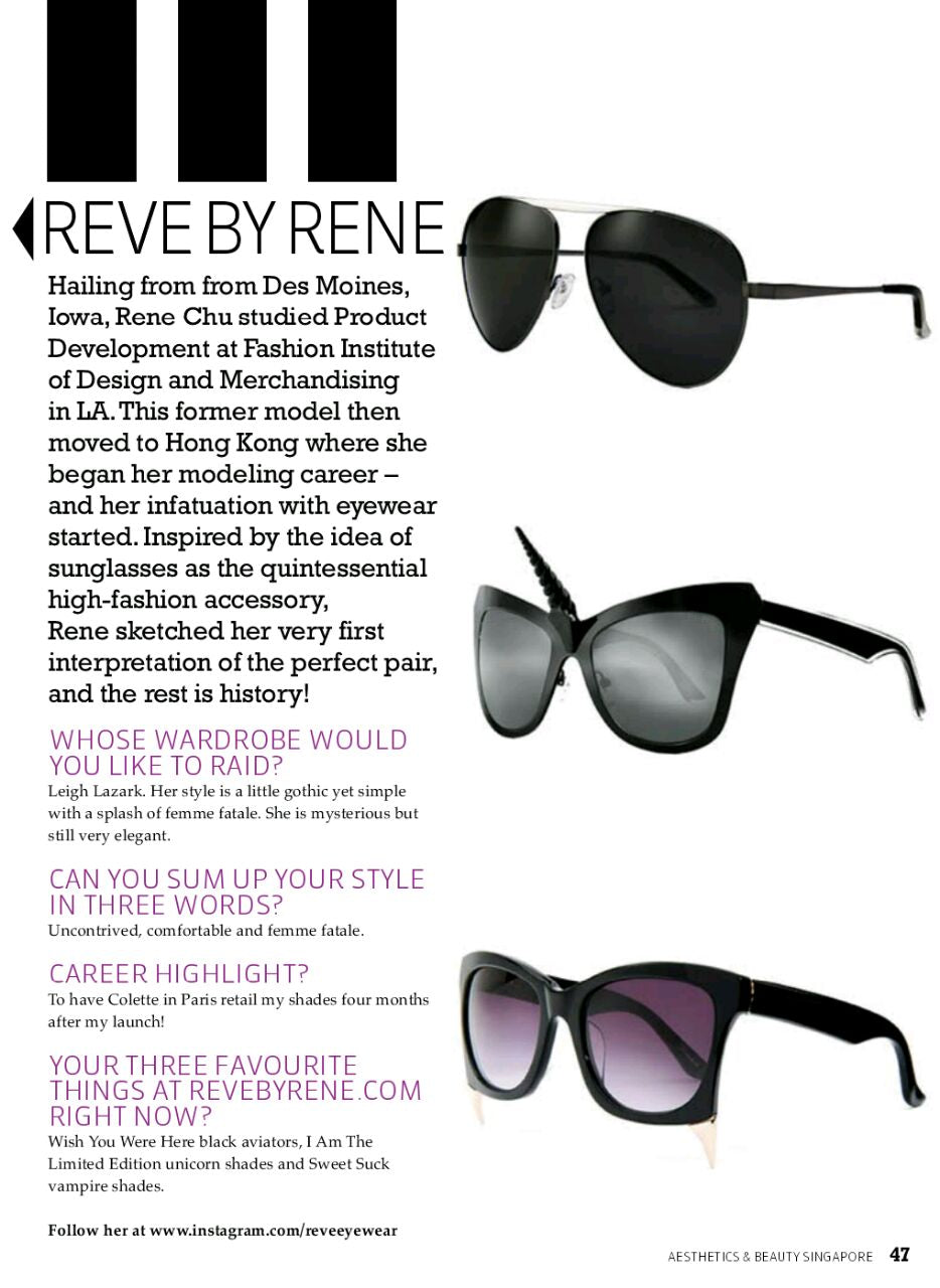 REVE by RENE featured on AESTHETICS & BEAUTY