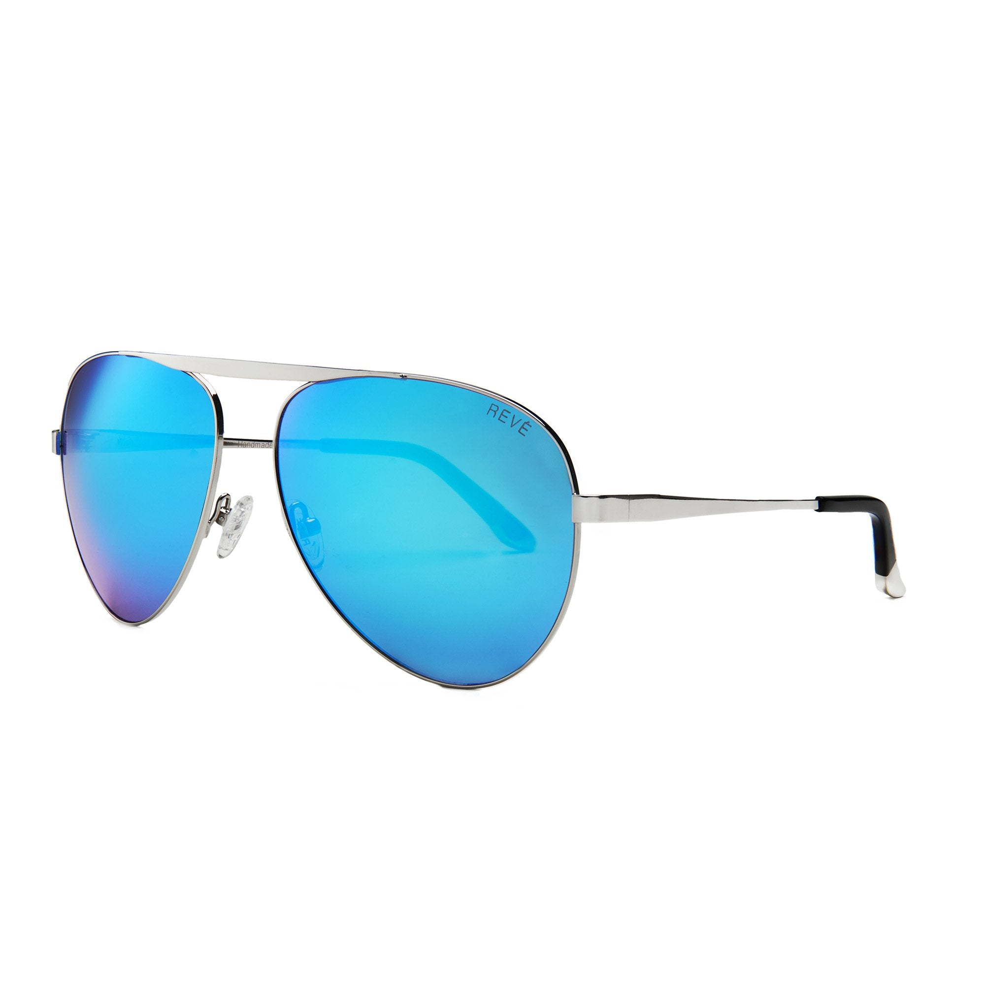 REVE by RENE wish you were here aviator sunglasses sur blue