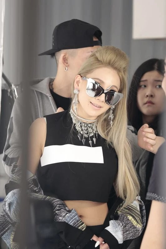 CL Chaerin wore REVÉ by RENÉ iconic Unicorn sunglasses for Pedderzine.