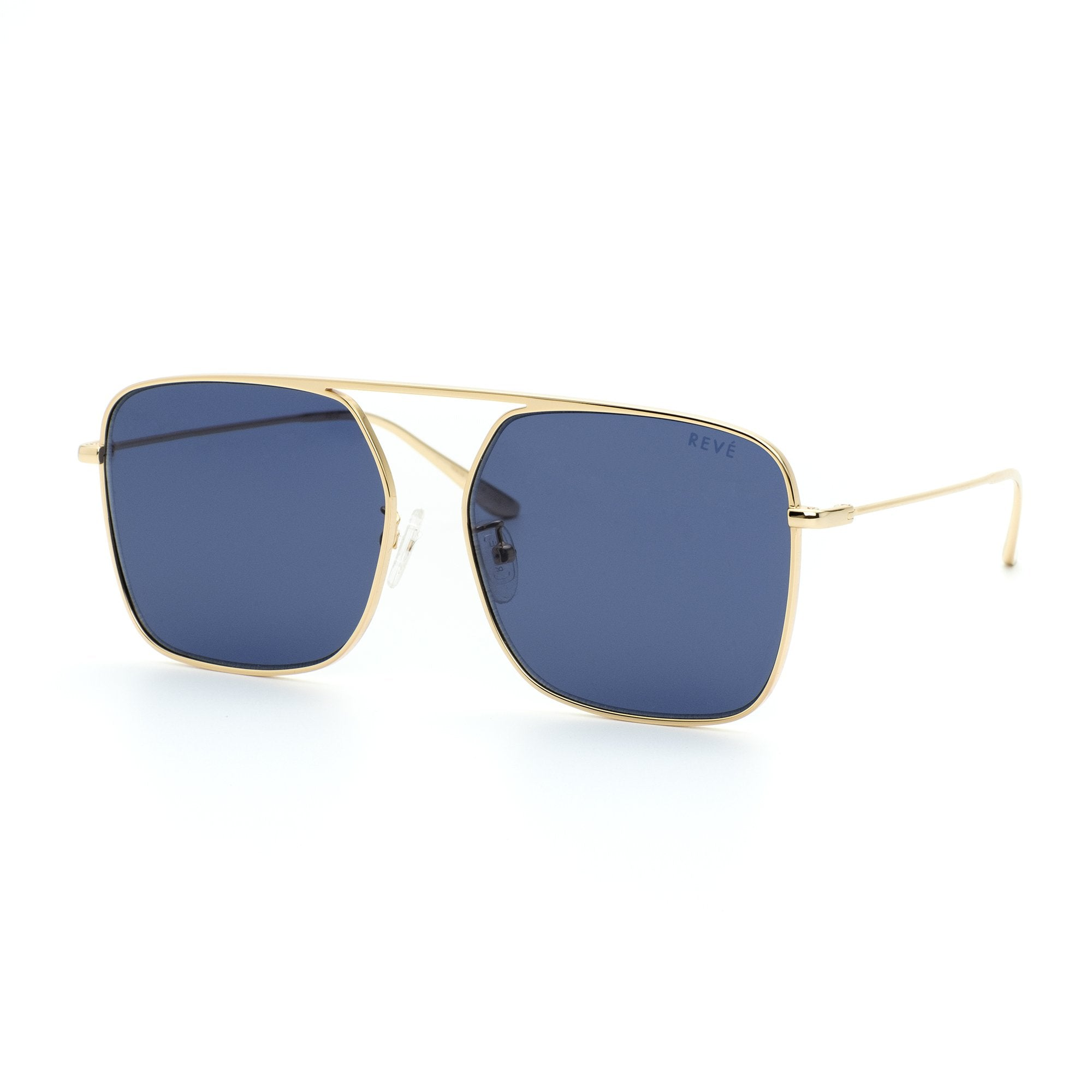 REVE by RENE BPM square aviator sunglasses in navy