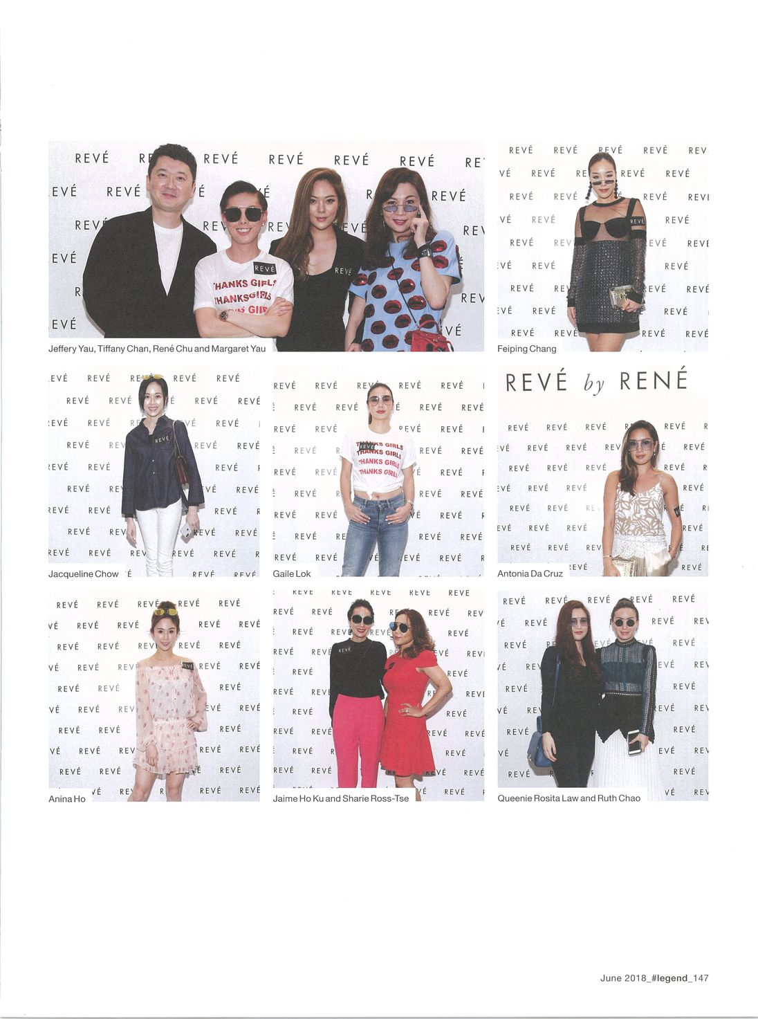 Hashtag Legend covers REVE by RENE Hong Kong event, Tiffany Chan, Rene Chu