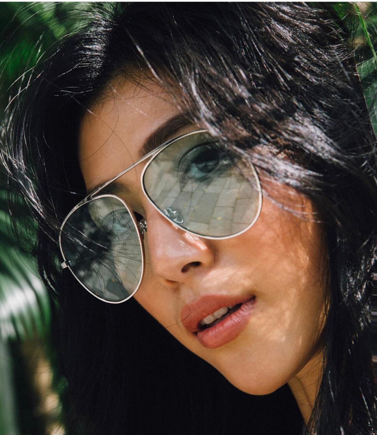 莫莉 Molly Chiang wears REVE aviator sunglasses