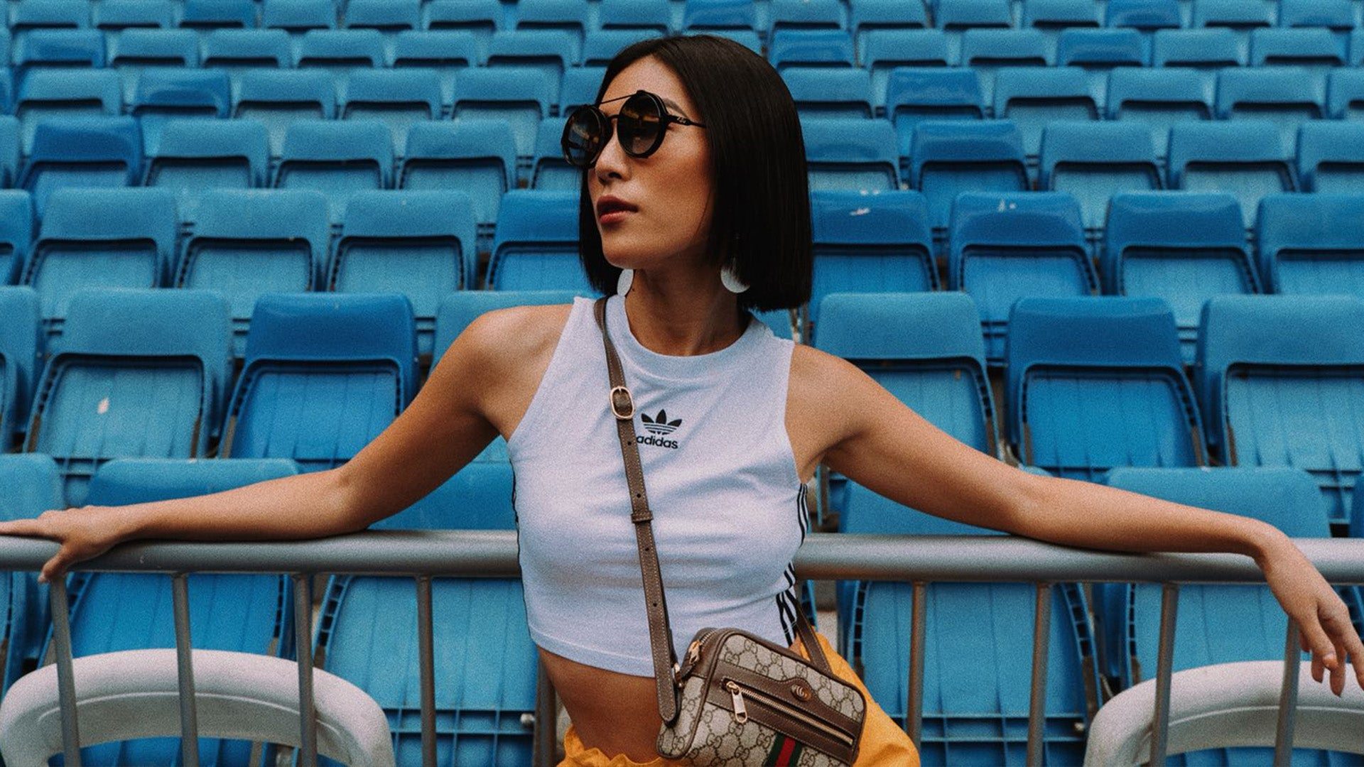 Molly Chiang wears The Minions x REVE sunglasses