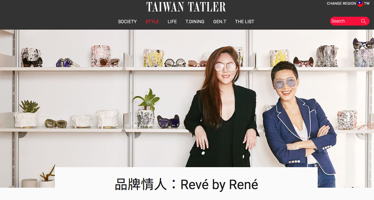 REVÉ and Sunset collaboration featured in Tatler
