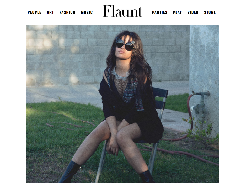 Camila Cabello wears REVE by RENE sunglasses for Flaunt Magazine