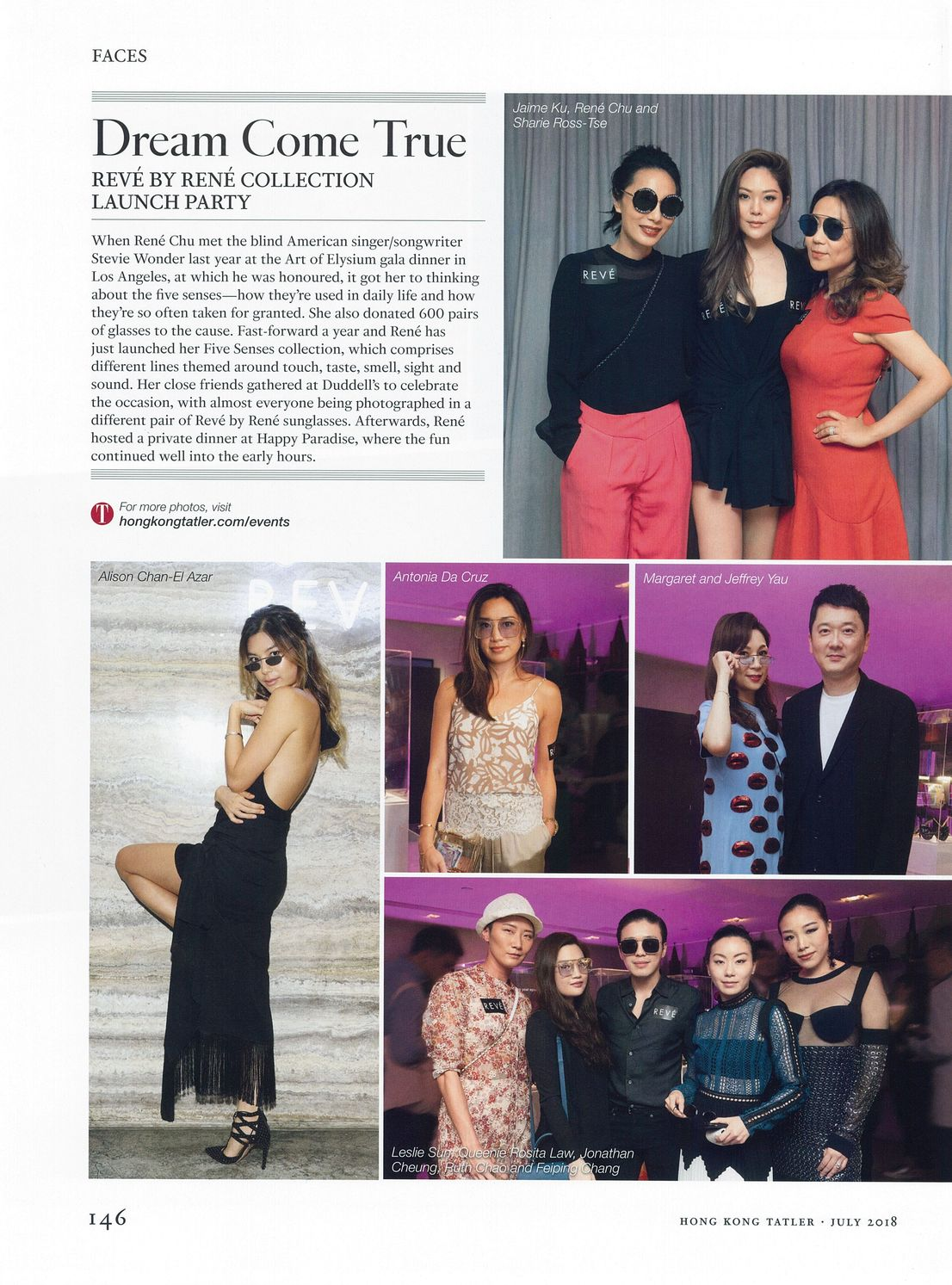 REVE by RENE launch party featured in Hong Kong Tatler