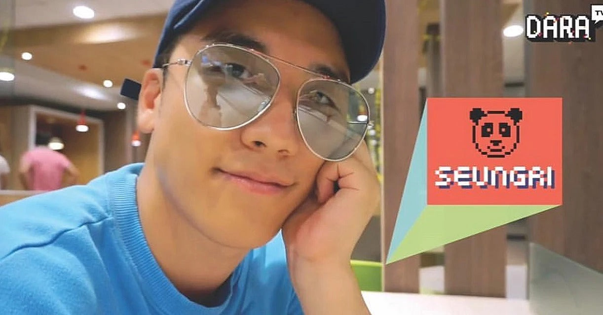 Lee Seung Ri wears REVE by RENE Jellybean Green sunglasses.