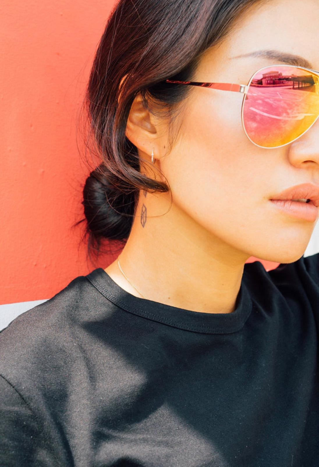 Peggy Gou wears REVE by RENE sunglasses