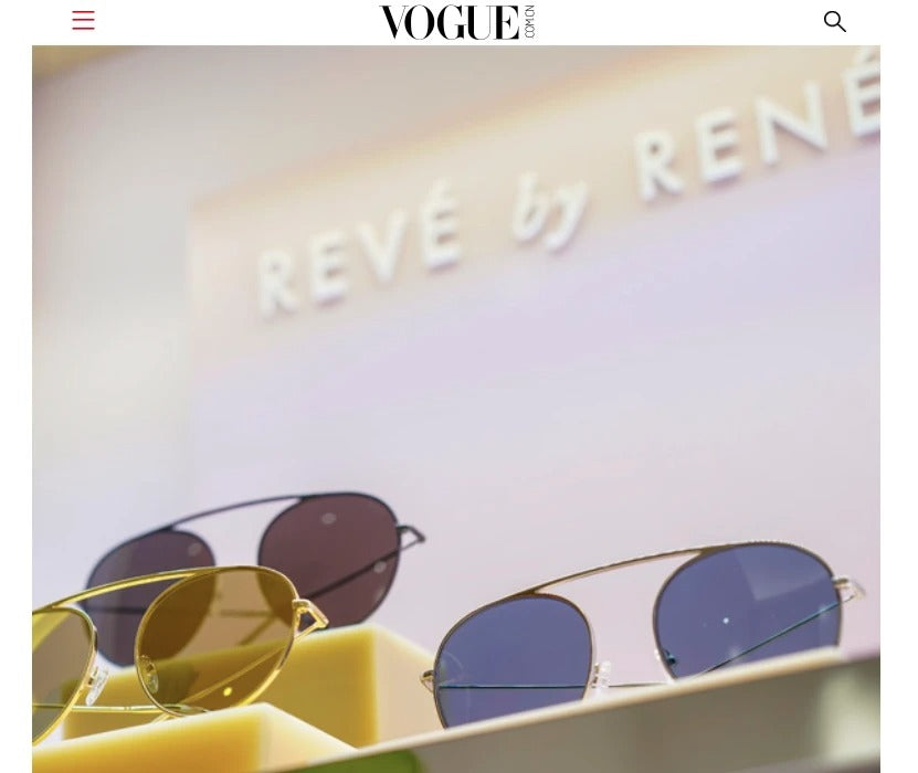 Vogue China features Puyi Optical press event for REVÉ by RENÉ