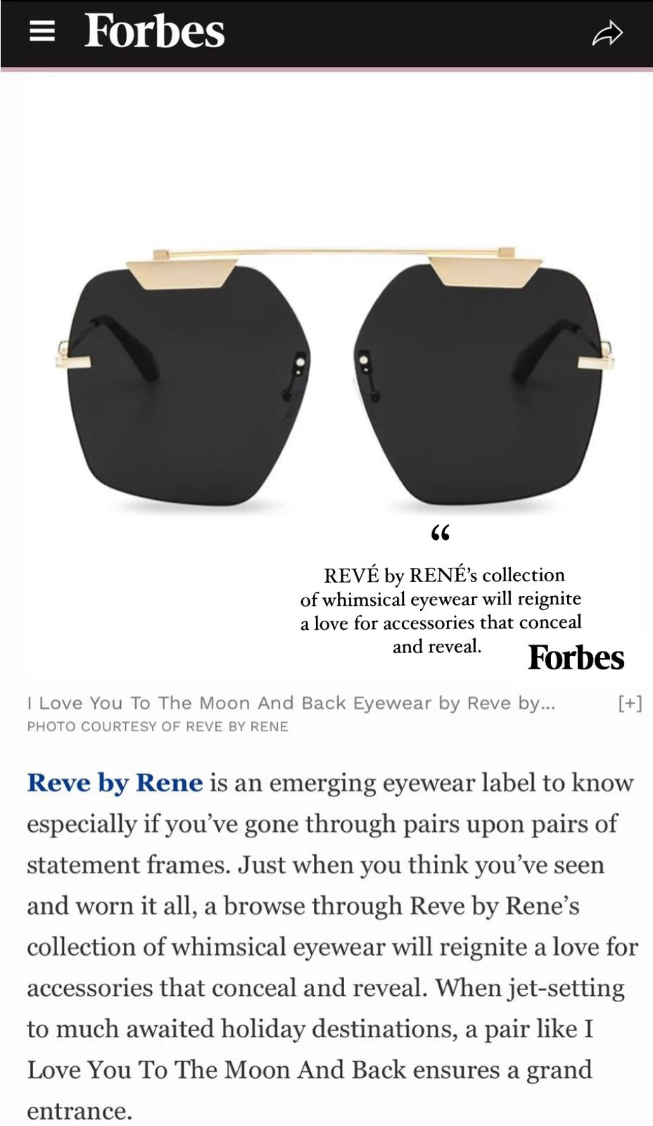 REVE by RENE on Forbes