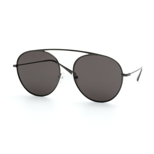 4AM black aviator sunglasses - tinted black flat lenses