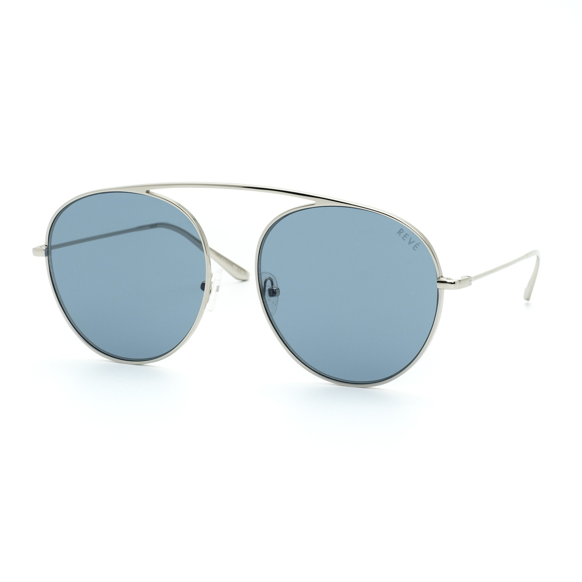 REVE by RENE 4AM aviator sunglasses | Dark aquamarine blue sunglasses