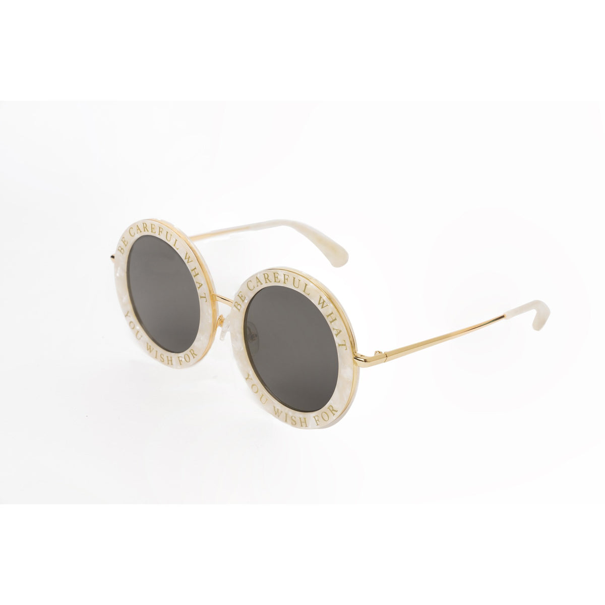 Honey Trap | Seashell | Fun Retro circle sunglasses