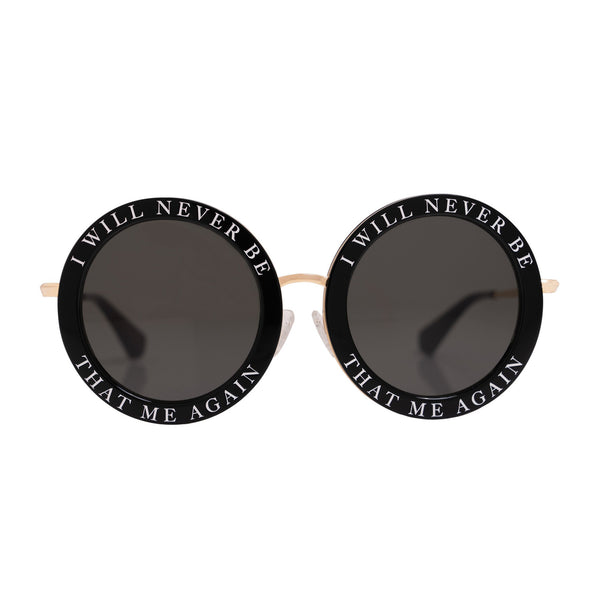 Honey Trap | Black | Fun Retro circle sunglasses