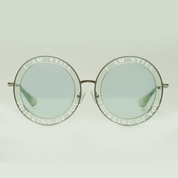 Honey Trap | Green | Fun Retro circle sunglasses