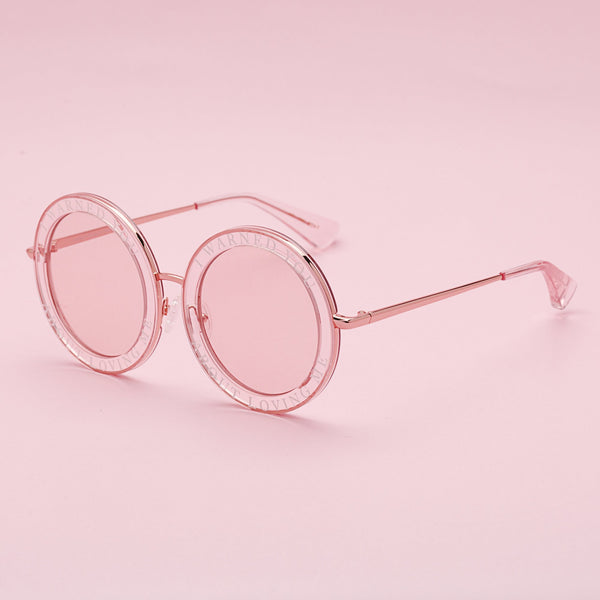 Honey Trap | Pink | Fun Retro circle sunglasses