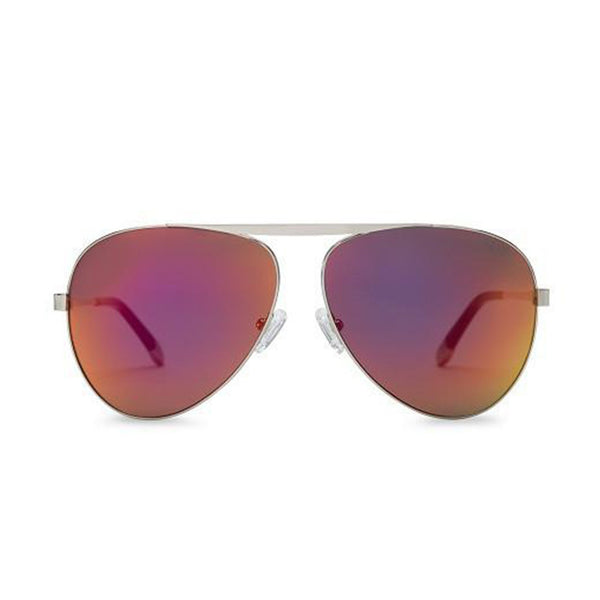 WISH YOU WERE HERE | BIKINI PINK aviator sunglasses with mirrored lenses