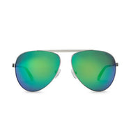 WISH YOU WERE HERE | GREEN ENVY aviator sunglasses with mirrored lenses