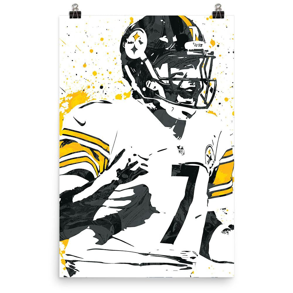 7e78091da20 ... Ben Roethlisberger Pittsburgh Steelers Poster - Apollo Posters