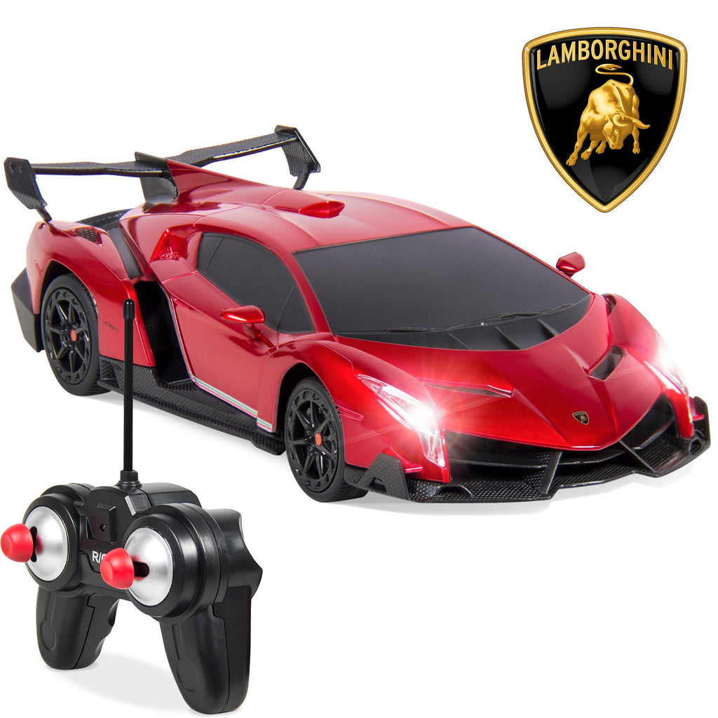 1/24 Kids RC Lamborghini Veneno Racing Car Toy w/ Lights, Shock Suspension
