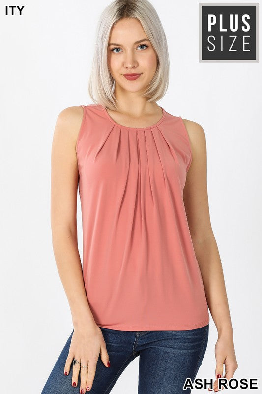 ITY Pleated Sleeveless Top